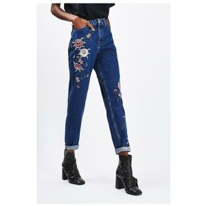 NWT TOPSHOP Moto High Waisted Floral Skinny Jeans